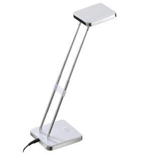 moderne LED-Tischleuchte, inklusive 1xLED-Board  2,5Watt , 2700°K warmweiß, 160lm in Chrom / Weiß weiß/chrom