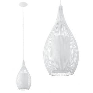 Grazile Pendelleuchte in Tropfenform in Weiß weiß