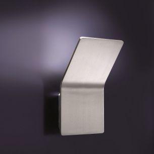 Indirekte LED-Wandleuchte in Aluminium gebürstet - inklusive 1x LED 6,6W 490lm 3000K