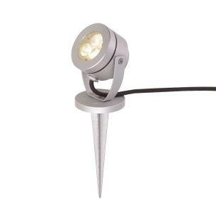 LED-Erdspießstrahler mit 3m Gummizuleitung und Stecker