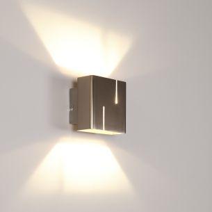Wandleuchte inklusive warmweißer 5Watt LED - Oberfläche in Nickel-matt stahlfarbig/nickel, matt