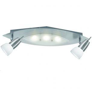 LED-Deckenleuchte in stahlfarben, inklusive 5 x 3 Watt LED, Lichtfarbe 3000°K warmweiß