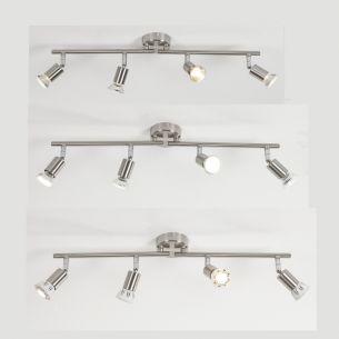 Klassischer Deckenstrahler - 4-flammig - Flexibel ausrichtbar - 3 Varianten