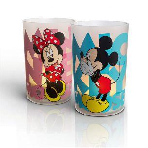 2x 0,06 Watt, Set Micky und Minnie, 2er Set