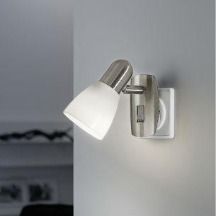 wandleuchten wandlampen mit steckdosen wohnlicht. Black Bedroom Furniture Sets. Home Design Ideas