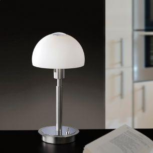 Klassische Tischleuchte mit LED-Technologie - 2 Oberflächen wählbar, inklusive 1 x 4W LED, 3000°K, warmweiß