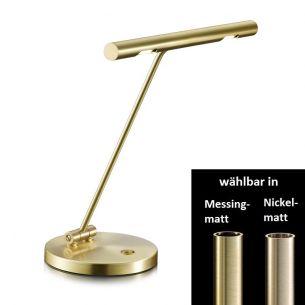 Moderne LED-Klavierleuchte wahlweise in Nickel-matt oder Messing-matt erhältlich - Breite 30cm - mit Schalter