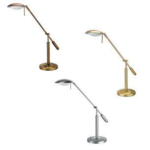 Dimmbare Schreibtischleuchte - perfekt ausrichtbar - in 3 Oberflächen lieferbar - inklusive 80Watt Leuchtmittel