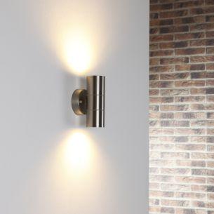 Edelstahl Wandleuchte mit tollem Lichteffekt, 2 x 3 Watt LED