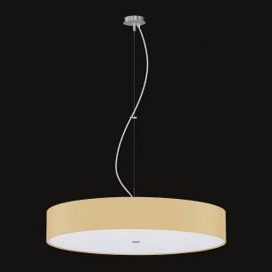 Pendelleuchte Alea Champagner, Acrylglasabdeckung, 50 cm 3x 46 Watt, 50,00 cm
