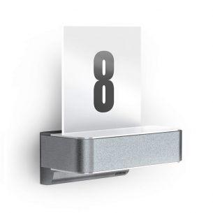 LED-Hausnummernleuchte aus Aluminium mit Acrylglas und Infrarotsensor - inklusive Klebe-Hausnummern
