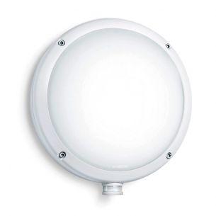 Runde Außenleuchte mit Infrarot-Sensor und 8 Meter rundum Reichweite - in weiß weiß