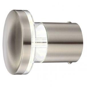 LED-Außenwandleuchte aus Edelstahl, Kunststoffglas klar, IP44, inkl. 30 x LED 0,2W 160lm, 3000K