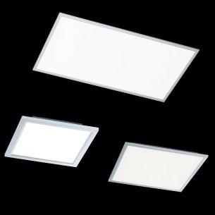Flaches LED-Panel in 3 Größen wählbar - per Fernbedienung dimmbar - inkl. LED 3500K neutralweiß