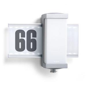 Moderne Außenwandleuchte mit integriertem Infrarot - Sensor - inklusive LEDs und Klebe - Hausnummern