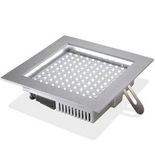 8,7 W LED-Deckeneinbauleuchte aus hochertigem Kunststoff , 100LEDs, LEDs in warmweiß oder kaltweiß wählbar, Abstrahlwinkel  90°, IP20