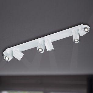 6-flammige LED-Strahlerleiste - in Weiß - inklusive 6x LED je 6,5W je 375 Lumen warmweiß