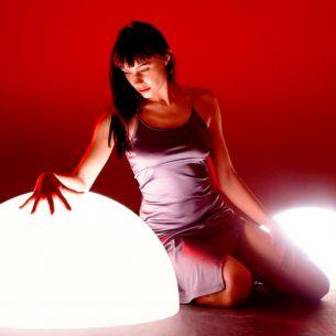 Halbkugel mit Aufschraubsockel-Lichtszene MOONLIGHTS -  Ø von 35cm bis 75cm wählbar