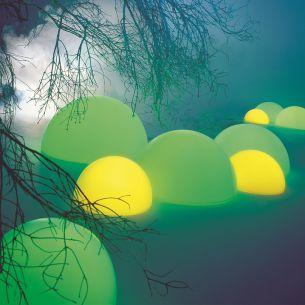 Netzunabhängige Akku - Halbkugel - MOONLIGHTS mit Schalter-  Ø von 35cm bis 75cm wählbar, ca.8-10 Std.Brenndauer bei Raumtemperatur, Lichtfarbe neutralweiß