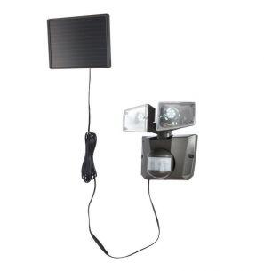 Solar - LED - Sensor - Top einsetzbar im Außenbereich, Kunststoff grau, IP44, 6500°K