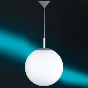 Moderne Kugel-Pendelleuchte mit weißem Opalglas - Ø35cm 1x 77 Watt, 35,00 cm
