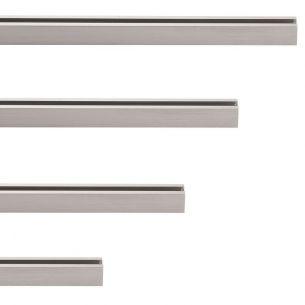 2-Phasen HV Stromschiene - Länge 60cm - Nickel-matt 60,00 cm