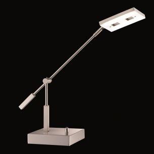 Dimmbare LED-Tischleuchte Nickel-matt - Acrylglas, 1 x 11,76Watt LED, 1200lm, 3000K