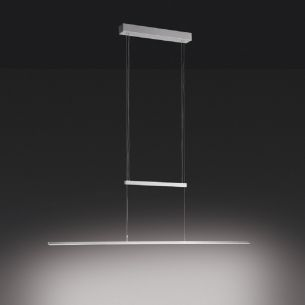 Elegante LED-Zugpendelleuchte aus Stahl, dimmbar per Fernbedienung, inklusive 19Watt LED-Board, 3000°K und Fernbedienung