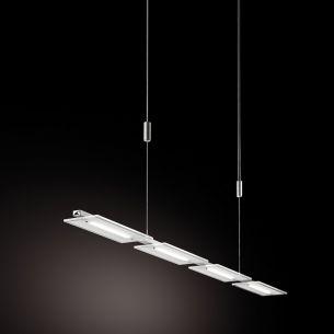 4-flammige LED-Pendelleuchte Aluminium und Acrylglas - LED- Board 4 x 5Watt  - warmweiß 3000°K, dimmfähig