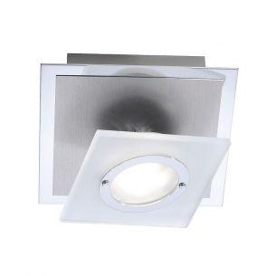 1-flammige LED-Deckenleuchte in Aluminium - inklusive wechselbares LED-Module 1x 3,3Watt - 380lm - 14cm x 14cm