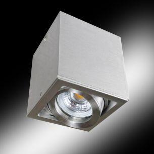 Deckenleuchte aus Aluminium, wählbar in Weiß oder Silber, inklusive 1x 7Watt LED, schwenbar ca. 40-45 °