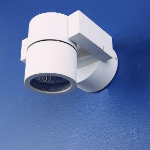 LED-Wandspot schwenkbar, Aluminium weiß matt , inklusive 1x LED 7W - 2700K , 556lm, IP54
