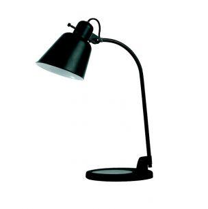Schreibtischlampe schwarz im Design der 20er Jahre