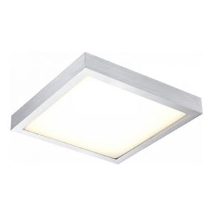 LED-Deckenleuchte - Aluminium gebürstet mit weißem Kunststoffglas, 30 x 30cm, 198x0,06W LED ~ 11,88Watt, 1150lm 198x 0,06 Watt, 7,50 cm, 30,40 cm, 30,40 cm