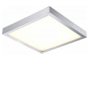 LED-Deckenleuchte - Aluminium gebürstet mit weißem Kunststoffglas, 40 x 40cm, 288x0,06W LED ~ 17,28Watt,1750lm 288x 0,06 Watt, 8,20 cm, 40,40 cm, 40,40 cm