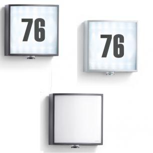 LED-Außenwandleuchte - Hausnummernleuchte - mit Infrarot - Sensor - in 2 Farben