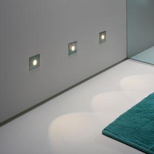 LED-Wandleuchte IP65 für innen und außen, fünf Oberflächen wählbar, inklusive 1Watt LED,3000°K warmweiß