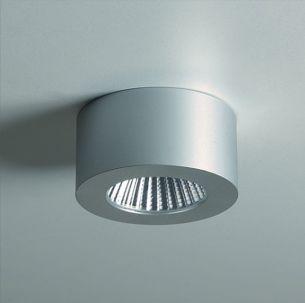 Möbelleuchte - LED-Unterbauleuchte - anodisiertes Aluminium , inklusive 5W LED Lampe, rund