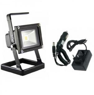 AKKU - LED-Flutlichtstrahler bis zu 2 Std. Arbeitszeit, Li-Ion Akku,1.8Ah, schwarz, IP 65, 5W 450lm kaltweiß