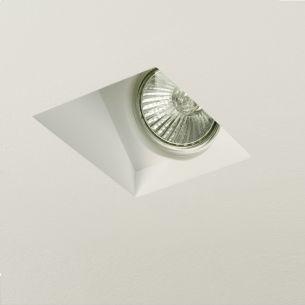Einbauleuchte aus Gips für tolle architektonische Beleuchtungsmöglichkeiten, 1x GU10 50Watt