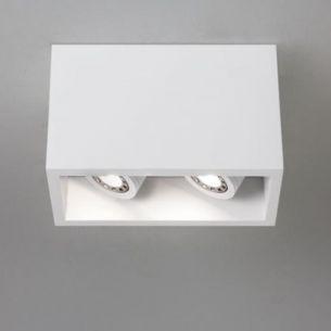 LED - Downlight aus Gips, IP20, beliebig anstreichbar