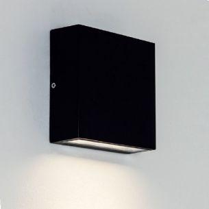 LED-Wandleuchte Elis eckig Downlight, Schwarz schwarz