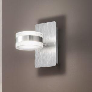 moderne led wand oder deckenleuchte aus metall und wei em acrylglas 1 flammig inklusive 8 w. Black Bedroom Furniture Sets. Home Design Ideas