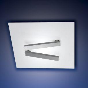 Moderne LED-Deckenleuchte aus weißem Metall - inklusive 2x 21 Watt LED-Leuchtmittel - 35 x 35 cm 19,00 cm, 35,00 cm, 35,00 cm