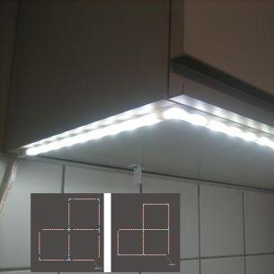 Power-LED-Stecksystem satiniert - Schiene 9 LEDs x 0,16W - 135 Lumen - Serie 920