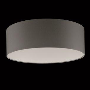 Runder Lampenschirm - Chintz Stoff grau - 40 cm