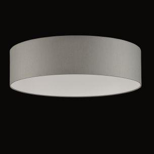 Runder Lampenschirm - Chintz Stoff grau - 60 cm