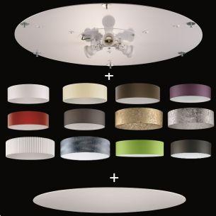 runder lampenschirm blattsilber durchmesser 60 cm wohnlicht. Black Bedroom Furniture Sets. Home Design Ideas