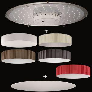 runder lampenschirm stoff plissee grau durchmesser 75 cm wohnlicht. Black Bedroom Furniture Sets. Home Design Ideas