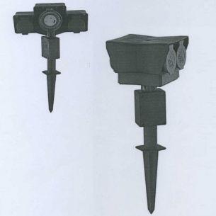 Verteilersteckdose aus Kunststoff in Schwarz/Grün 3 Meter Kabel, mit oder ohne mechanischem Timer wählbar